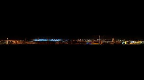 Munich Airport at night - from visitors' hill