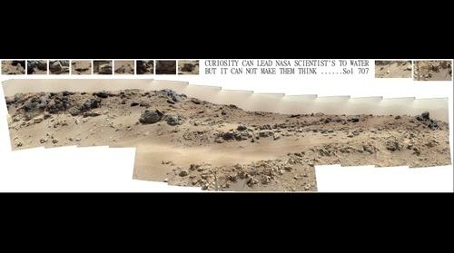 Nasa scientists fail to research stream / spring find on Mars, Fluvius primus 'Martis ( latin first river of mars ) Bottom middle of image.