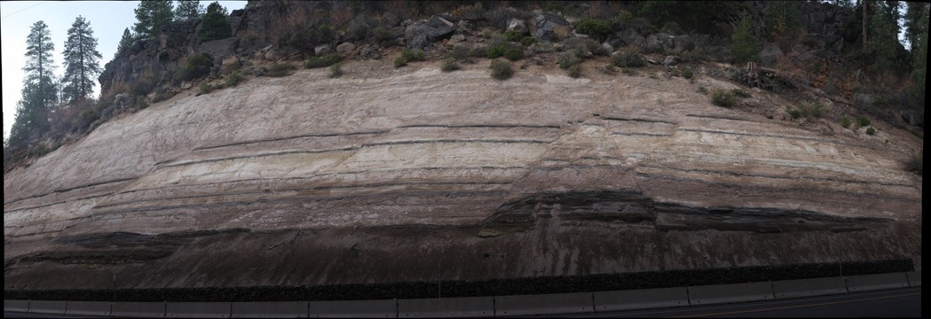 Faults Exposed in Roadcut on OR-97