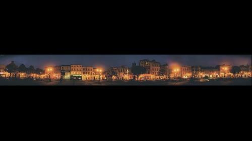 Rynek Koscierzyna Noca - Panorama 360