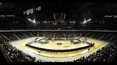 Eurochallenge basketball match gigapanorama