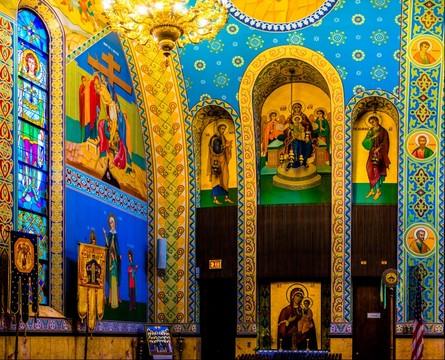 Sts Volodymyr & Olha Northeast corner - Chicago, IL