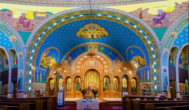 Sts Volodymyr & Olha iconostasis - Chicago, IL