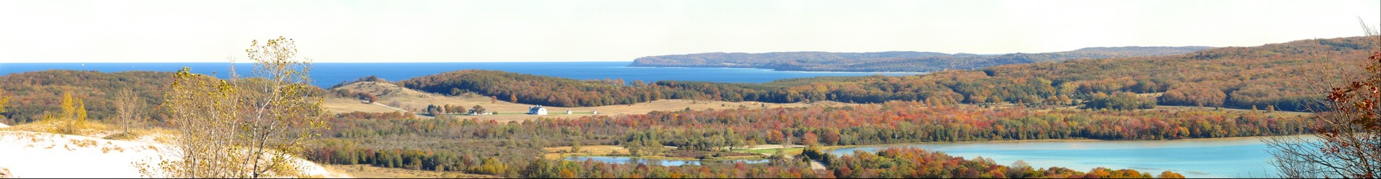 View from the Sleeping Bear Dunes