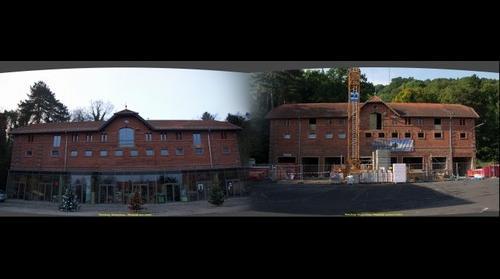 Wuerzburg - Buergerbraeu - Pferdestall waehrend und nach dem Umbau