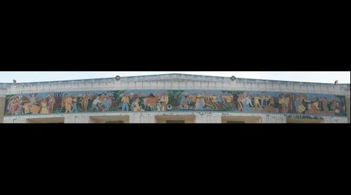 Mural on Will Rogers Memorial Auditorium