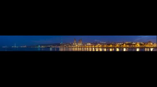 Baku Boulevard night view panorama