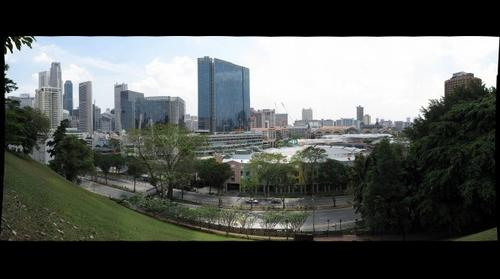 Clarke Quay from Fort Canning Park