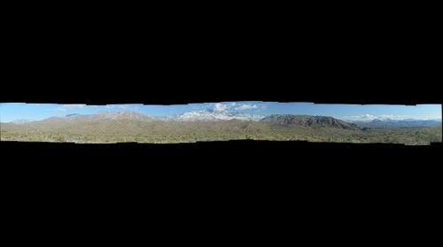 Snow on Four Peaks panorama, January 2, 2015