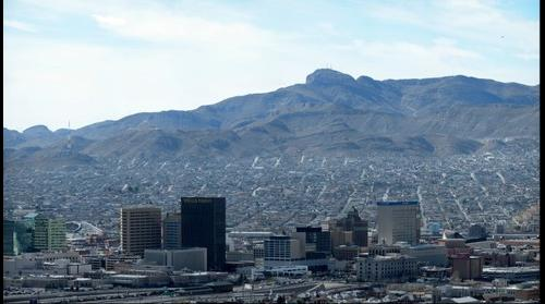 Juarez, Chihuahua Mexico in Background, and El Paso, Texas USA in Foreground