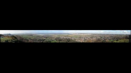 Frodsham Hill Cheshire Panoramic