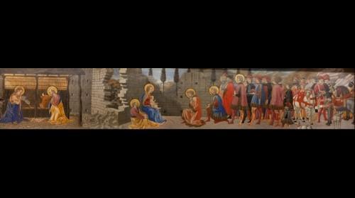 "Giovanni di Francesco, Paris, Louvre ""El nacimiento"""