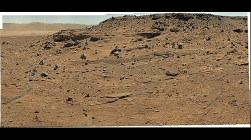 MSL Curiosity @Moonlight Valley area in Gale crater, Mars - Sol 540 remade Pano with PDS data