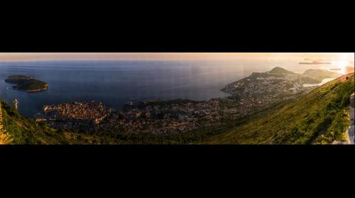 Dubrovnik from mount Srgj at sunset