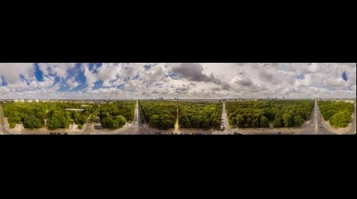 360° Berlin skyline from top of Victory Column