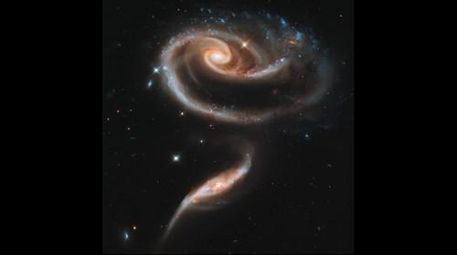 Interacting galaxies Arp 273 (Hubble Telescope)