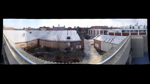 whereRU: View from top of Parking Deck at College Avenue Campus