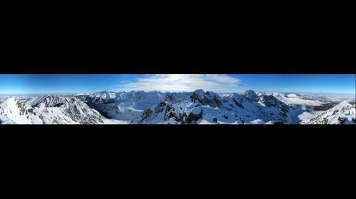 Panorama z Zadniego Granatu 2240m 7.02.2015
