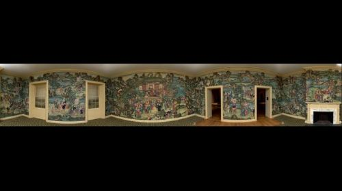 Help identify all the activities shown in this 100-year-old hand-painted wallpaper from China