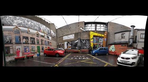 Belfast Mural Courtyard