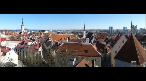 View from Toompea hill lookout point