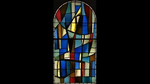 Vitrail pour l'Eglise de Choye par Jacques Bony
