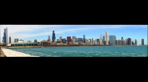 Chicago Skyline as seen from the Adler Planetarium