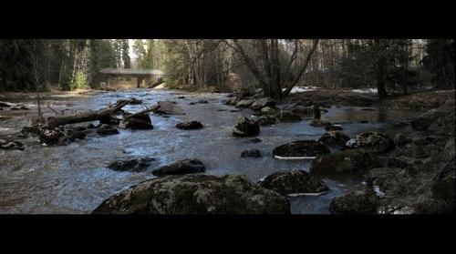 Keravanjoki during springtime