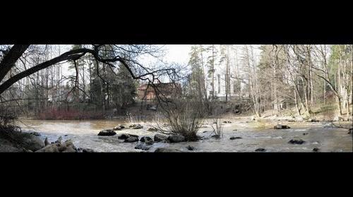 Keravanjoki river at springtime