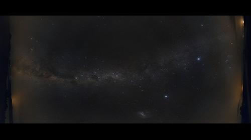 Panorama of the southern night sky