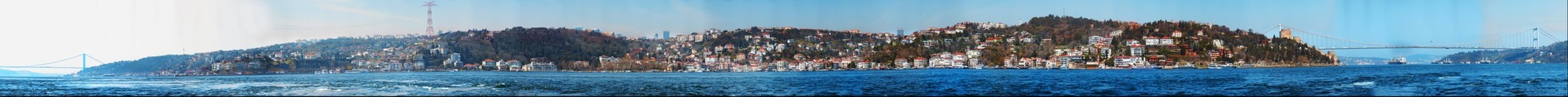 Istanbul Bosphorus Panorama from Kandilli