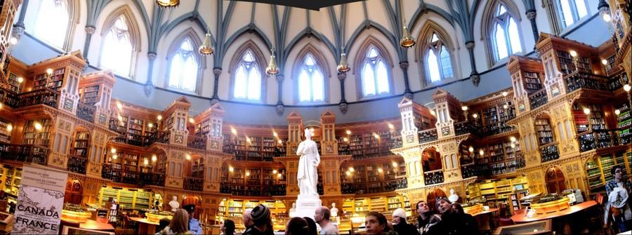 Parliamentary Library Interior, Ottawa, Canada