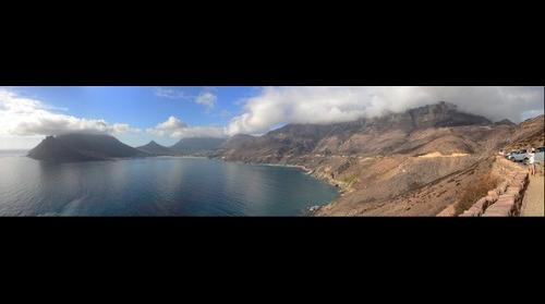 Hout Bay from Chapman's Peak after the March 2015 wildfires