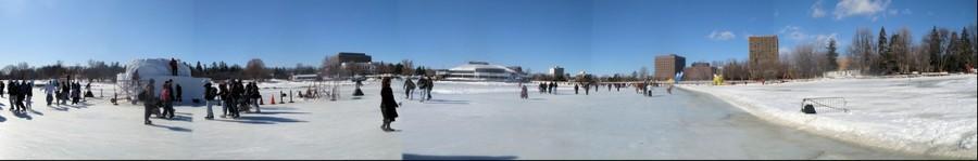 Dow's Lake, Ottawa, Ontario, Canada during Winterlude 2009 Festival