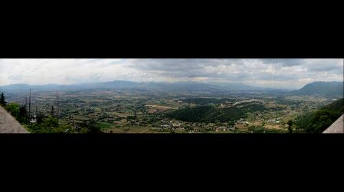 View from the top of Segni overlooking the Sacco Valley, Lazio