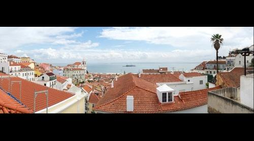 View of Alfama distric in Lisbon, Portugal