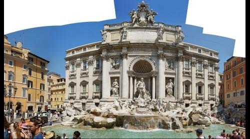 This photo - view to Trevi fountain, Piazza di Trevi, Rome, Italy - taken by Shikov Volodya