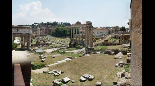 This photo - .view to Tempio di Saturno, Rome, Italy - taken by Shikov Volodya - taken by Shikov Volodya