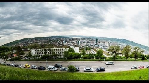 Zürich, von der Waid aus