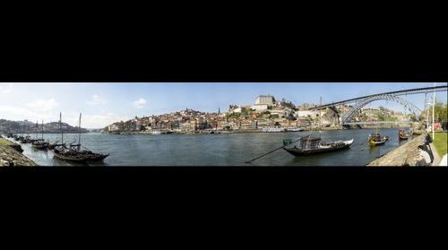 Panorámica de Oporto desde Gaia de dia
