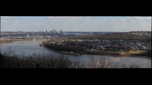 Viewing the Ohio River from Mount Echo