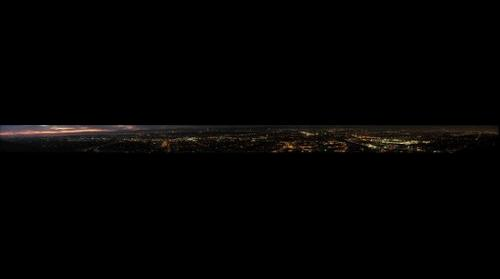 Night Panorama 2 from a hill in Culver City