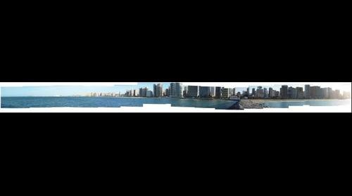 Panorama of Meireles and Iracema Beaches, Fortaleza, Brazil
