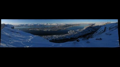 Gigapixel panoramic view of Tromsoe Island