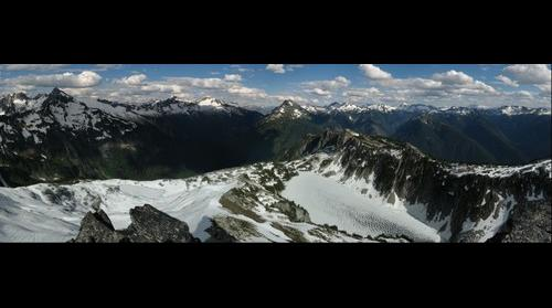 The North Cascades from Hidden Lake Peak