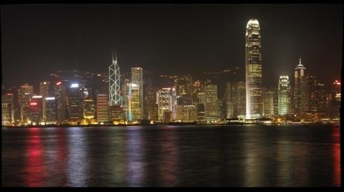 Hong Kong Island Skyline at Night