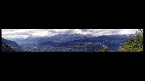 Vue vers Sion