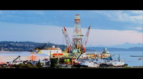 The 350 MP Noble Discoverer Gigapan: The Royal Dutch Shell Noble Discoverer Arctic Oil Exploration Drilling Ship in Everett, Washington, June 29, 2015.