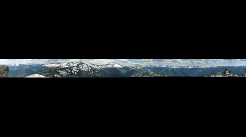 HDR pano from Hidden Lake Peak