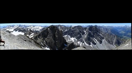 Panorama from the shoulder of the Piz Lischana